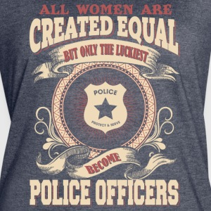 The Luckiest Women Become Police Officers - Women's Vintage Sport T-Shirt