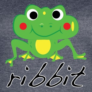 Funny ribbit frog product. - Women's Vintage Sport T-Shirt