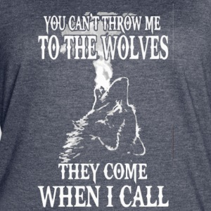 YOU CAN T THROW ME TO THE WOLVES - Women's Vintage Sport T-Shirt