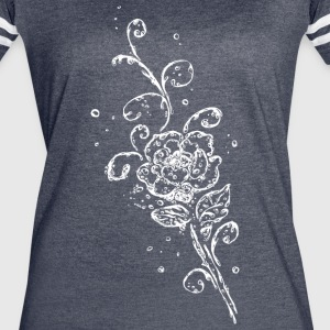 Water splash, rose with leaves and Tribal, of wate - Women's Vintage Sport T-Shirt