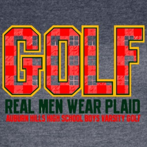 Golf Real Men Wear Plaid Auburn Hills High School - Women's Vintage Sport T-Shirt