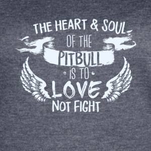 Heart and Soul pit bull - Women's Vintage Sport T-Shirt