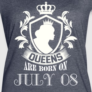 Queens are born on July 08 - Women's Vintage Sport T-Shirt