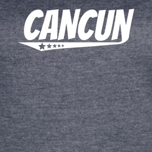Cancun Retro Comic Book Style Logo - Women's Vintage Sport T-Shirt
