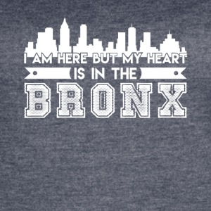 My Heart In The Bronx Shirt - Women's Vintage Sport T-Shirt