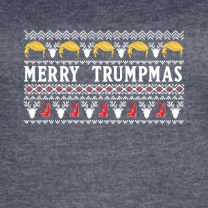 Merry Trumpmas Ugly Christmas Gift For President - Women's Vintage Sport T-Shirt