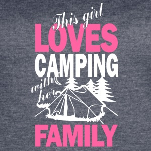 This Girl Loves Camping With Her Family T Shirt - Women's Vintage Sport T-Shirt