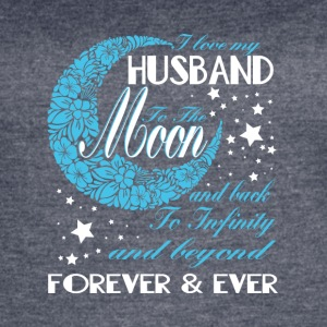 I Love My Husband To The Moon And Back T Shirt - Women's Vintage Sport T-Shirt