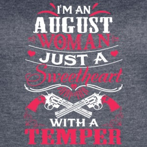 I'm an august woman Just a sweetheart with temper - Women's Vintage Sport T-Shirt
