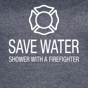 Save water shower with a firefighter - Women's Vintage Sport T-Shirt