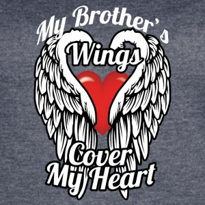 My brother's wings cover my heart - Women's Vintage Sport T-Shirt