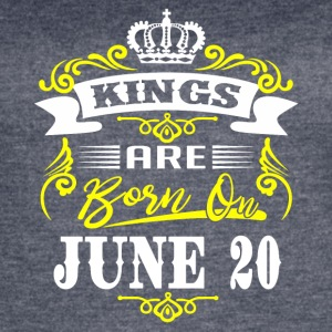 Kings are born on JUNE 20 - Women's Vintage Sport T-Shirt