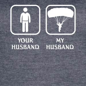 Husband Skydiving Love- cool shirt,geek hoodie,tan - Women's Vintage Sport T-Shirt