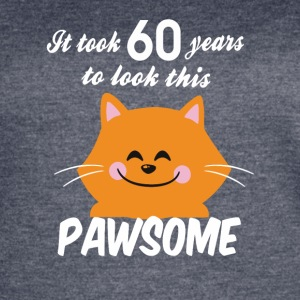 It took 60 years to look this pawsome - Women's Vintage Sport T-Shirt