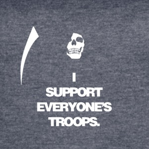 Death supports everyone's troops - Women's Vintage Sport T-Shirt