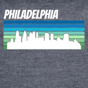 Retro Philadelphia Skyline - Women's Vintage Sport T-Shirt