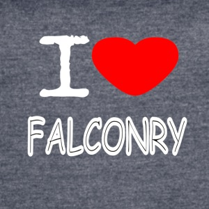 I LOVE FALCONRY - Women's Vintage Sport T-Shirt