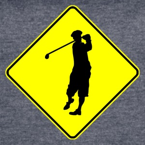 Golfer Crossing - Women's Vintage Sport T-Shirt