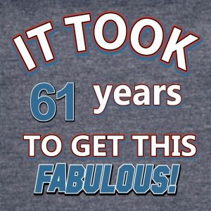 61st birthday design - Women's Vintage Sport T-Shirt