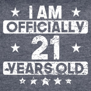 I Am Officially 21 Years Old 21st Birthday - Women's Vintage Sport T-Shirt