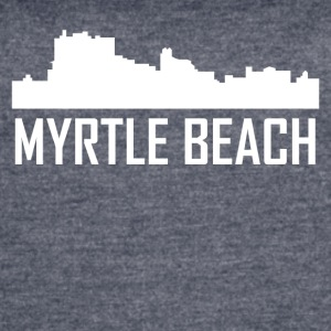 Myrtle Beach South Carolina City Skyline - Women's Vintage Sport T-Shirt
