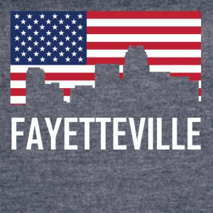 Fayetteville North Carolina Skyline American Flag - Women's Vintage Sport T-Shirt