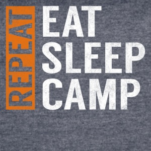 Eat Sleep Camp Repeat Funny Camper Camping Gift - Women's Vintage Sport T-Shirt