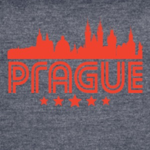 Retro Prague Skyline - Women's Vintage Sport T-Shirt