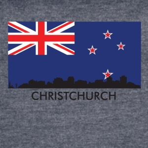 Christchurch Skyline New Zealand Flag - Women's Vintage Sport T-Shirt