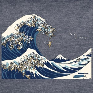 The Great Wave of Pug - Women's Vintage Sport T-Shirt