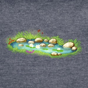 garden pond pool plants - Women's Vintage Sport T-Shirt