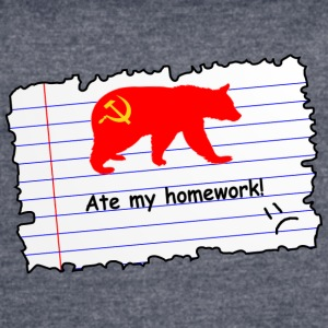 Russia ate my homework - Women's Vintage Sport T-Shirt