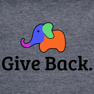 Give Back elephant - Women's Vintage Sport T-Shirt