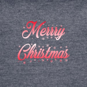 Merry_Christmas_-_slogan_red_white - Women's Vintage Sport T-Shirt