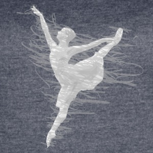 scribble dancer white and grey - Women's Vintage Sport T-Shirt