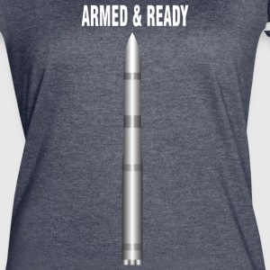 ARMED READY WHITE - Women's Vintage Sport T-Shirt