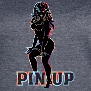 surprised_naked_pinup_girl_black - Women's Vintage Sport T-Shirt