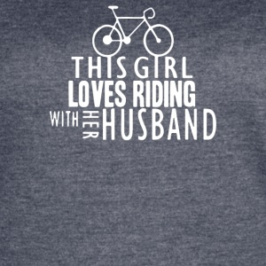 this girl loves riding with her husband - Women's Vintage Sport T-Shirt