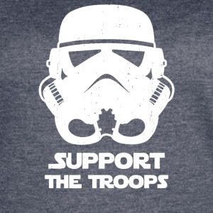 SUPPORT THE TROOPS - Women's Vintage Sport T-Shirt