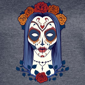 sugar_skull_face_girl - Women's Vintage Sport T-Shirt