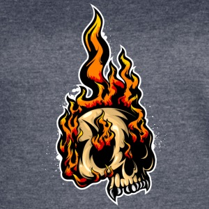 fired_up_skull - Women's Vintage Sport T-Shirt
