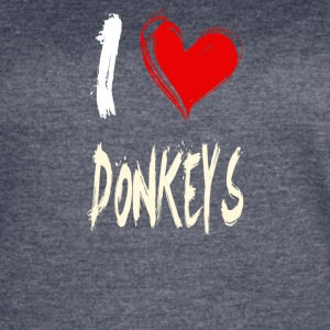 I love DONKEYS - Women's Vintage Sport T-Shirt