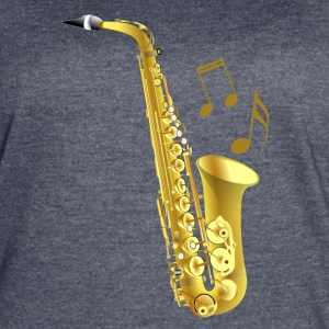 Saxophone with music notes - Women's Vintage Sport T-Shirt