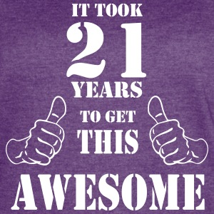 21st Birthday Get Awesome T Shirt Made in 1996 - Women's Vintage Sport T-Shirt