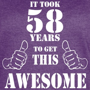 58th Birthday Get Awesome T Shirt Made in 1959 - Women's Vintage Sport T-Shirt