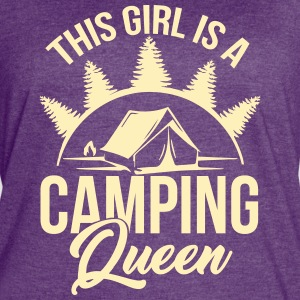 Camping Queen for Holiday & Outdoor Camper Girls - Women's Vintage Sport T-Shirt