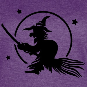 Halloween witch , full moon - Women's Vintage Sport T-Shirt