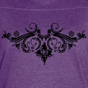 Filigree flowers and baroque ornament. - Women's Vintage Sport T-Shirt