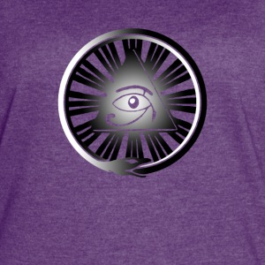 All Seeing Eye with Ouroboros & Yin/Yang Gradient - Women's Vintage Sport T-Shirt
