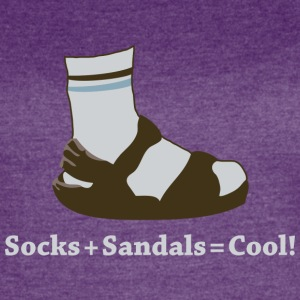 Socks and Sandals (Dark) - Women's Vintage Sport T-Shirt